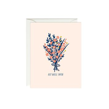 Get Well Soon Bouquet Card