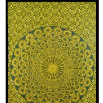 "XMAS GIFT MANDALA Hippy Yoga meditation Tapestry Wall Hanging Throw Cotton Twin Full Bedspread Beach Spread Bed Spread Picnic Spread 82""x"