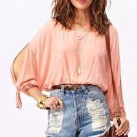 Split Personality Crop Top  in  Clothes at Nasty Gal