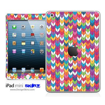 Colorful Knitted Print iPad Skin