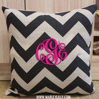 Monogrammed Pillow Cover | Home Decor | Marley Lilly