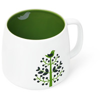 Green Tree Latte Mug - Large Bowl-Shaped Porcelain Tea Latte Mug | DavidsTea