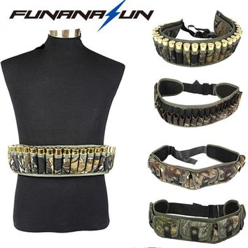 Hunting Molle Ammo Cartridge Belt Military Magazine Pocket 12GA Shotgun Shell Waist Pouch Adjustable Buckle Strap