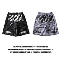 Off White Sports  Casual Pants Shorts Print Permeable Basketball [10262482387]