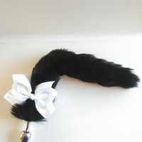 Sale, Tuxedo Theme Cosplay Plug Tail. Gift for her /Gift Ideas / Sex Toy / Mature / Sexo Anal / Sex /Bachelorette gift /Princess Plug.