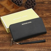 """Michael Kors"" Women MK Purse Simple Fashion Multi-card Bit Zip Long Section Wallet Multifunction Handbag"