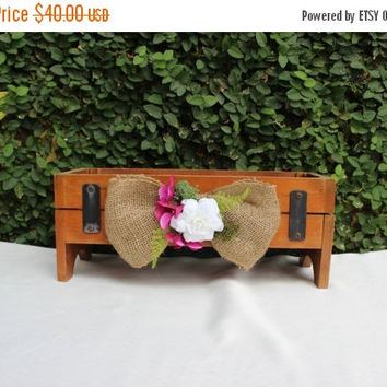 ON SALE Country wedding Favor Wooden Box / Rustic Wedding Wooden Box / Rustic Wedding Favor Box