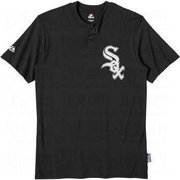 Chicago White Sox (YOUTH MEDIUM) Two Button MLB Officially Licensed Majestic Major Lea