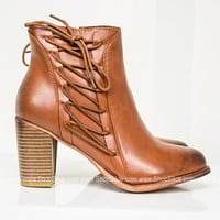 Sophie Distress Tan Booties