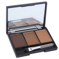 3 Colors Eye Shadow Eyebrow Powder Palette Makeup Shading With Brush Mirror Box Eye Brow Eyeshadow Pallete Make Up Tool