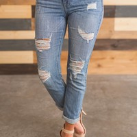 Courtney Distressed Jeans (Medium Wash)