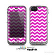 The Pink & White Chevron Pattern Skin for the Apple iPhone 5c LifeProof Case