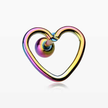 Colorline Heart Wire Cartilage Tragus Earring