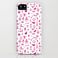 Pink Robots iPhone 5 Case, iPhone 4, iPhone 4s, Samsung Galaxy s4 Case, Galaxy s5, iPhone5 Case, iPhone 5c, iPhone 5s