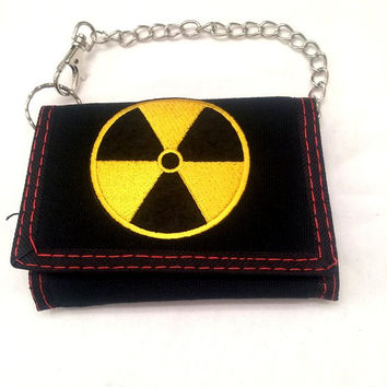 Yellow Radiation Tri-fold Wallet with Chain