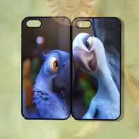 Rio Blu and Jewel Couple Cases -iPhone 5, 5s, 5c, 4, 4s, ipod 5, Samsung GS3 case- silicone or Hard Plastic Case, Phone cover
