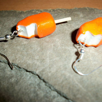 Orange Cream Pop Polymer Clay Earrings by moonknightjewels on Etsy
