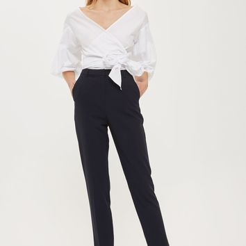 PETITE High Waisted Cigarette Trousers | Topshop