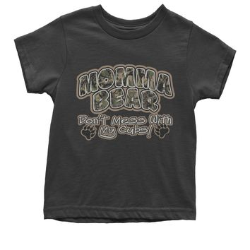 Momma Bear Camo Don't Mess WIth My Cubs Youth T-shirt