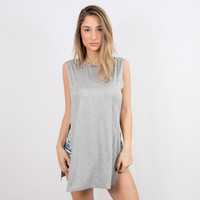 Side Action Tank Grey | Disruptive Youth
