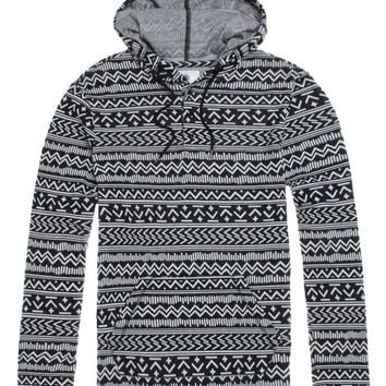 On The Byas Bruce Jacquard Hooded Long Sleeve Knit Shirt - Mens Shirt - Black