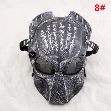 Predator skull protective field games Halloween dance movie props color Available