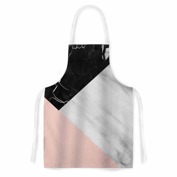 "Cafelab ""Marble Collage With Pale Pink ""  Gray Pink Artistic Apron"