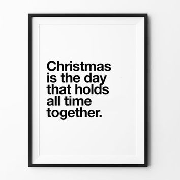 Christmas Print, inspirational, scandinavian, poster, new year quote, minimal, home decor art, mottos, wall arts