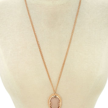 Faux Stone Pendant Necklace | Forever 21 - 1000171333