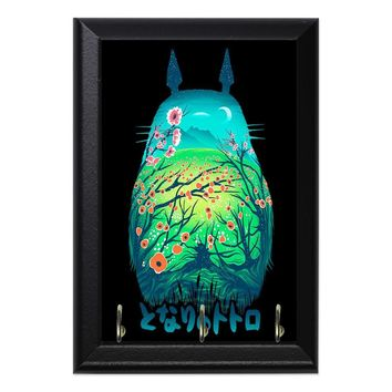 Totoro Forest Flowers #5 Anime Geeky Wall Plaque Key Holder Hanger