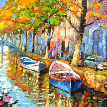 SALE The fragrant smell of autumn 2 - christmas sale gift Original oil painting on canvas by Dmitry Spiros.  Size: 28 x 36 in (70 x 90 cm)