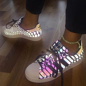 """""""Adidas"""" Women Reflective Chameleon Casual Running Sneakers Sport Shoes"""