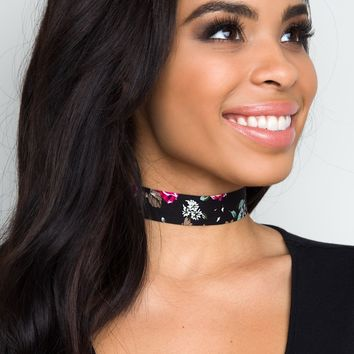 Darla Tie-On Choker - Black