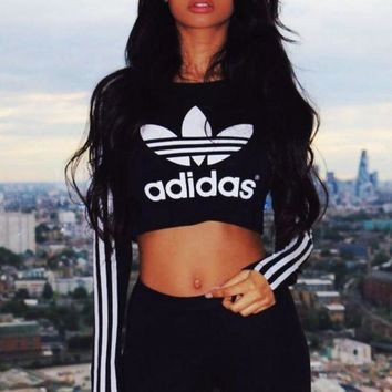 LMFON Adidas Paris Long-Sleeved Crop T-Shirt
