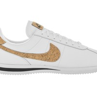 auguau Nike Men's Cortez Basic Leather Premium (White/White Black)