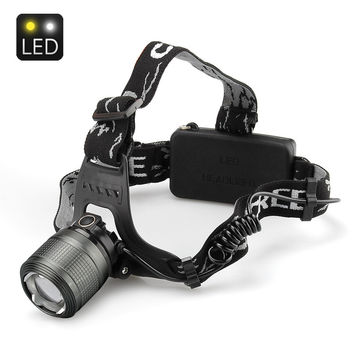 Weatherproof Cree T6 LED HeadLamp - 1200 Lumen, 4 Modes, Adjustable Focused Beam, Strike Bezel, 2X 18650 Batteries