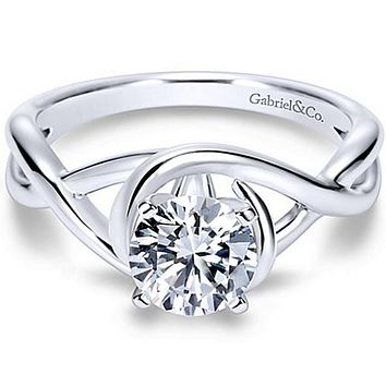 "Gabriel ""Celine"" Bypass Twist Diamond Engagement Ring"
