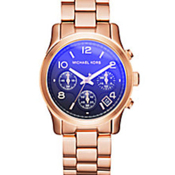 Michael Kors - Runway Flash Lens Rose Goldtone Stainless Steel Bracelet Watch - Saks Fifth Avenue Mobile