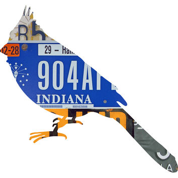 Indiana License Plate Cardinal