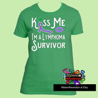 Kiss Me I'm a Hodgkins  Lymphoma Survivor Shirts for St. Patrick's Day