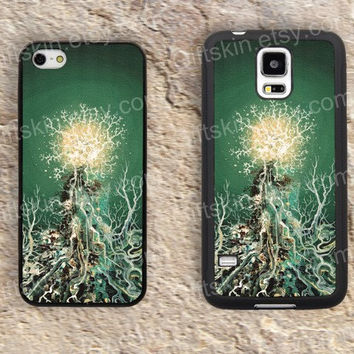Tree case lighting  iphone 4 4s iphone  5 5s iphone 5c case samsung galaxy s3 s4 case s5 galaxy note2 note3 case cover skin 143