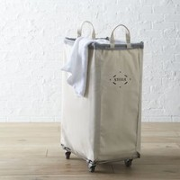 Steele ® Vertical Canvas Laundry Bin