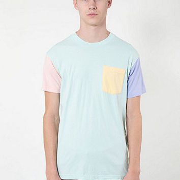 Power Washed Color Block Pocket Tee | American Apparel