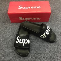 Supreme men and women non-slip slippers