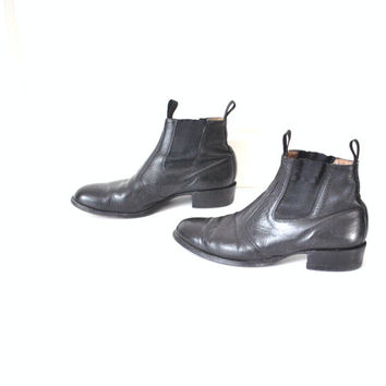 size 12.5 mens CHELSEA boots / vintage 1970s ROCKER chelsea slip on ankle booties