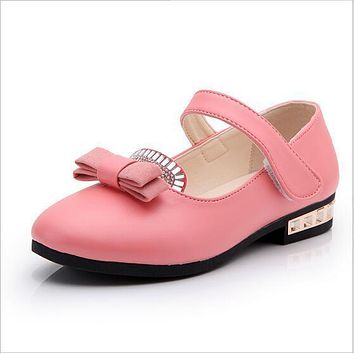 European diamond fashion children sandals high quality Lovely princess girls shoes baby cute Wedges kids shoes