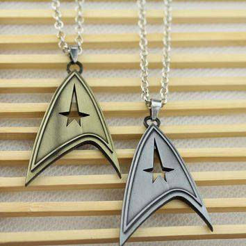 Steampunk US movie Star Trek Necklace bronze silver Pendant jewelry christmas wedding gift Statement Necklace