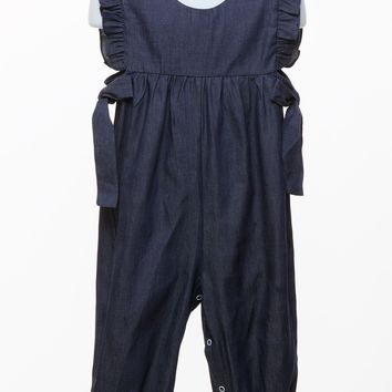 Three Sisters Baby Girl's Chambray Amelia Romper