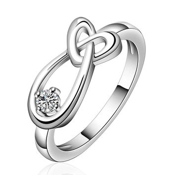 2015 Lovely  silver lord of the rings heart drop water men ring charm SMTR658