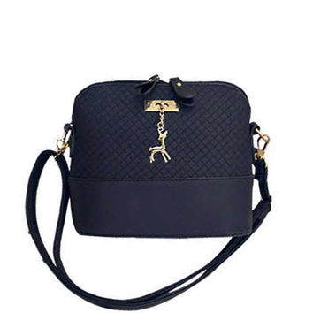 2017 Women Messenger Bags Fashion Mini Shell Shape Women Shoulder Bags Crossbody bags for girl with deer Quilted handbag